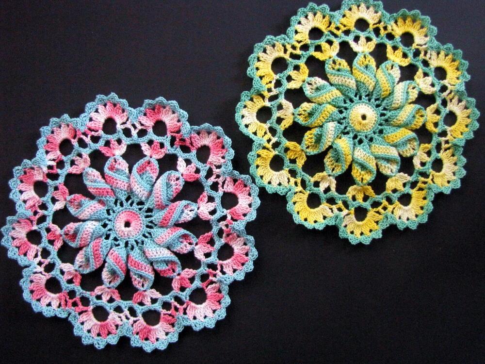 Pretty Pinwheel Doily Pattern Allfreecrochet Com
