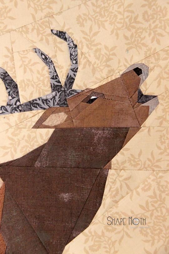 Roaring Deer Quilt Block Favequilts Com