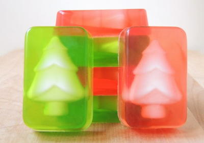 Christmas Tree DIY Soap Bars