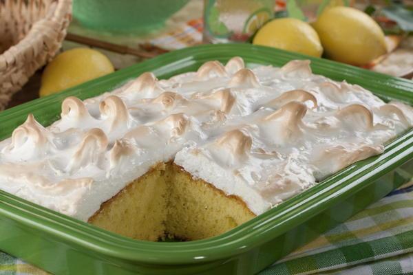 Lemon meringue cakes recipe