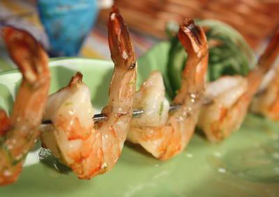 Lime Shrimp Skewers