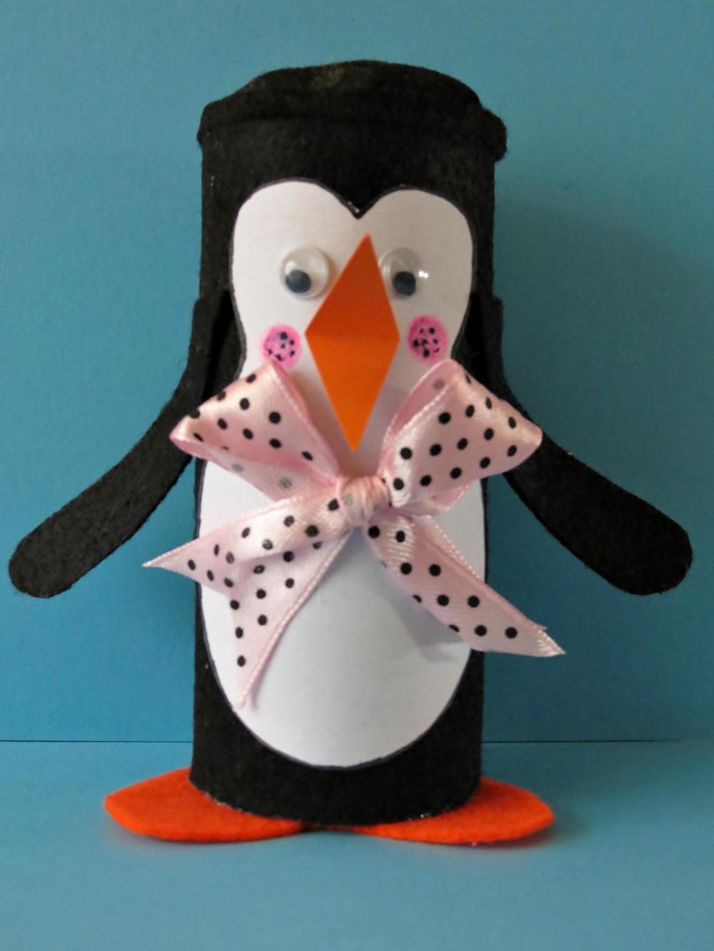 Winter Penguin Toilet Paper Roll Craft Favecrafts Com