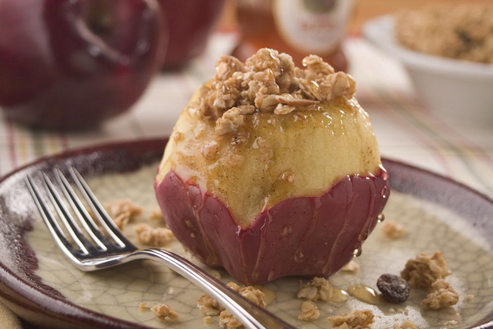 "Microwave Stuffed ""Baked"" Apples 