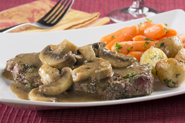 Mushroom steak for Easy romantic dinners to make at home