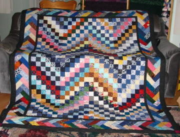 Braided Quilt Border Pattern Home : Pioneer Braid Quilt Bargello Border FaveQuilts.com