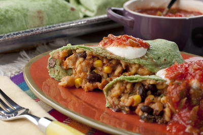 Overstuffed Chicken Burritos