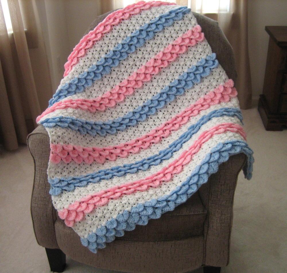 Crocodile Rock Crochet Baby Blanket ...