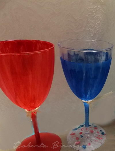 Painted 4th of July Wine Glasses