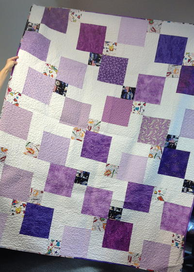 Incredible disappearing nine patch quilt for Bed quilting designs