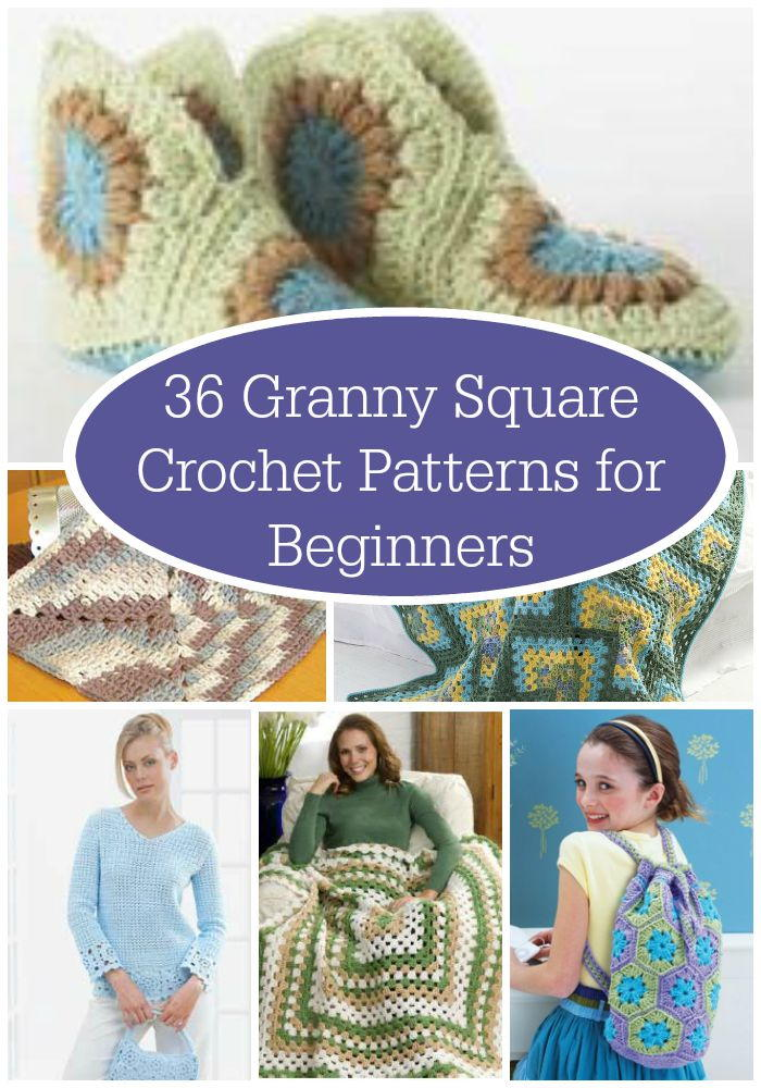 Crochet Square Patterns For Beginners : 36 Granny Square Crochet Patterns for Beginners ...