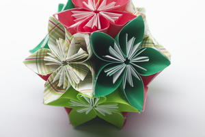 Folded Flower Ball Ornaments