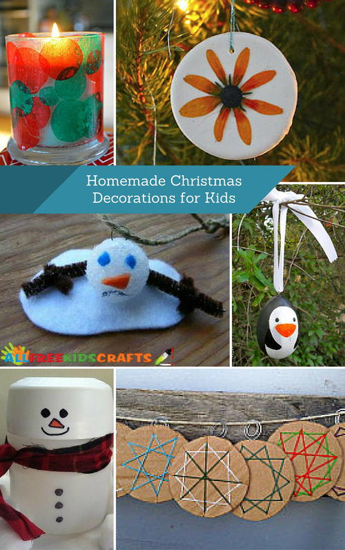 40 fun kids craft ideas for homemade christmas for Home made christmas decorations for kids