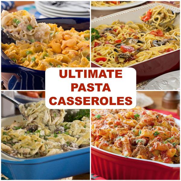 Pasta and egg bake recipe