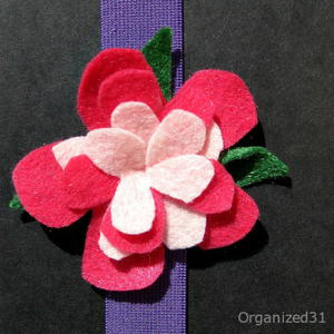 Felt Flower Book Hugger Bookmark