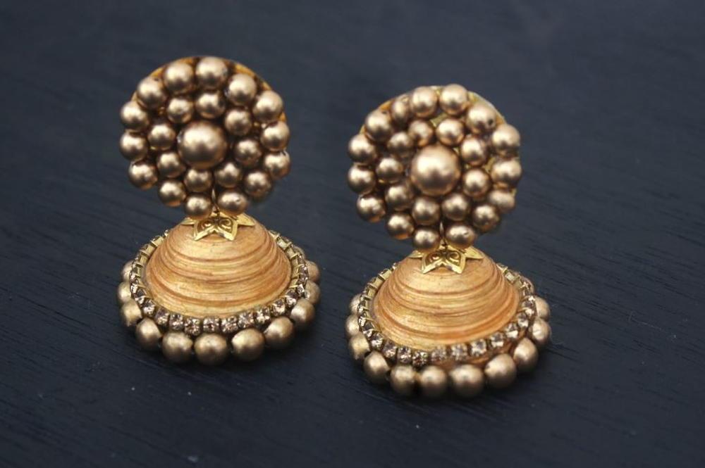 Indian Jhumka Diy Earrings Allfreejewelrymaking Com