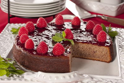 Raspberry Potato Cake
