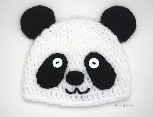 Easy Crochet Panda Hat Allfreecrochet Com