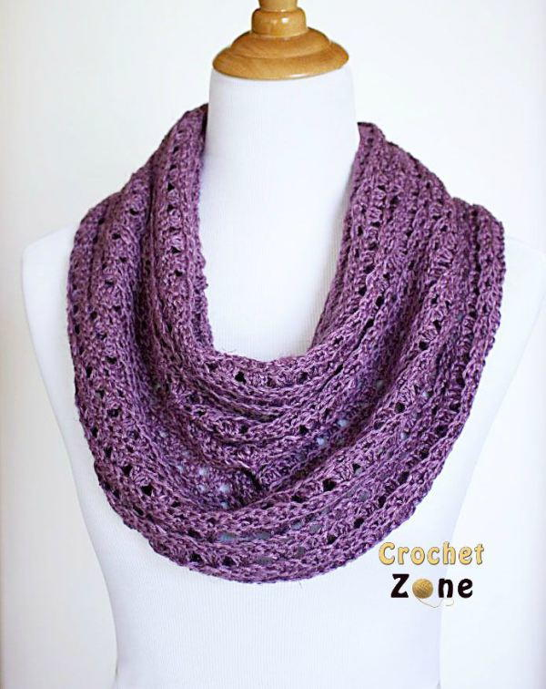 All Free Crochet Crochet Men s Skull Scarf Pattern : Perfectly Purple Crochet Scarf AllFreeCrochet.com