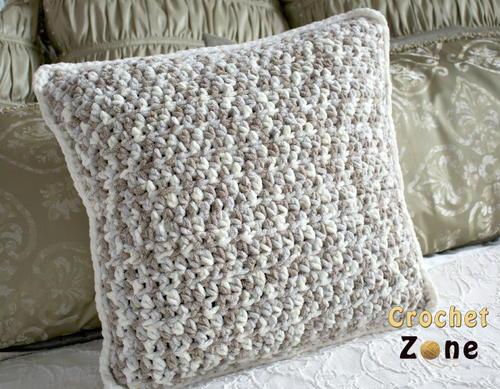 Free Crochet Patterns For Small Pillows : Small Easter Bunny Pillow AllFreeCrochet.com