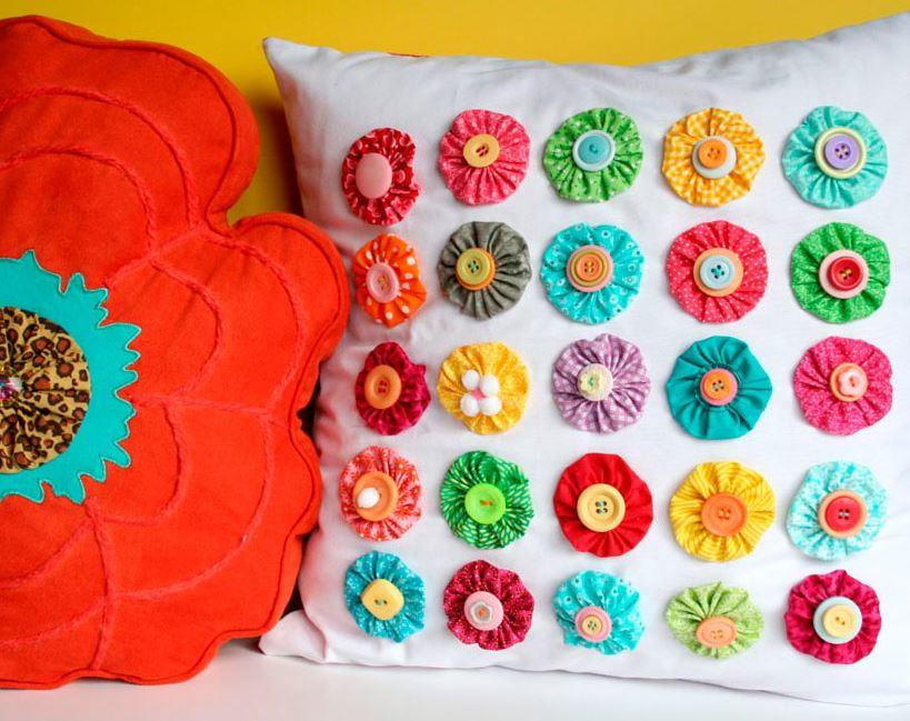 Yo yo pillow for Yo yo patterns crafts
