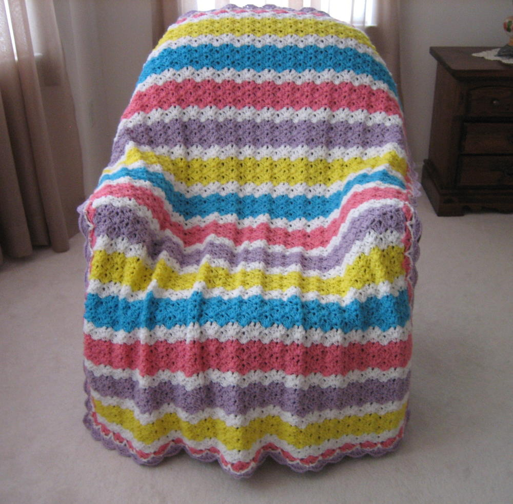 Summer S End Glow Crochet Blanket