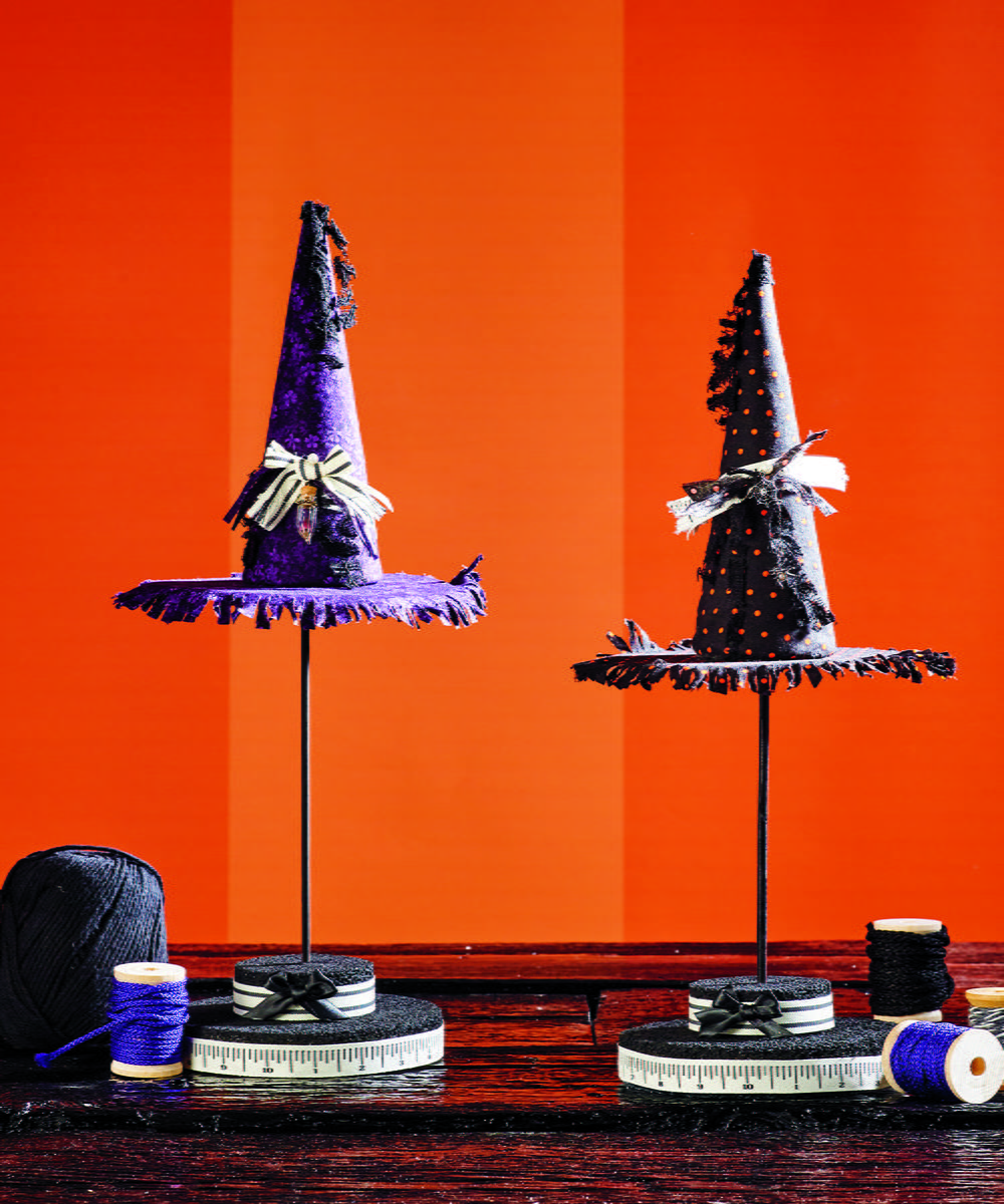 Halloween Centerpiece Ideas: Witch Hat Topiary Halloween Centerpiece