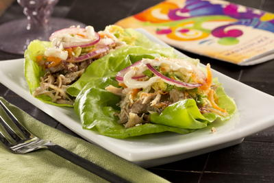 Roast Pork Lettuce Wraps