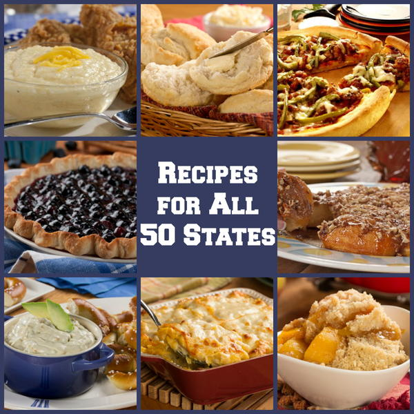 50 american food recipes for each state for American cuisine dishes