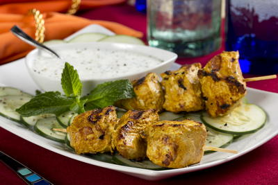 Shortcut Tandoori Chicken Skewers