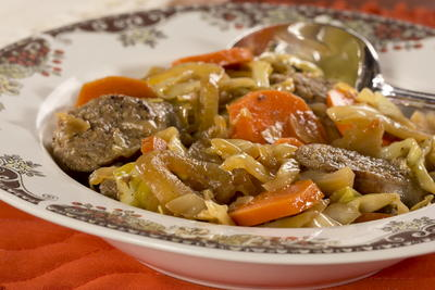 EDR Cabbage Lovers Turkey Sausage Stew