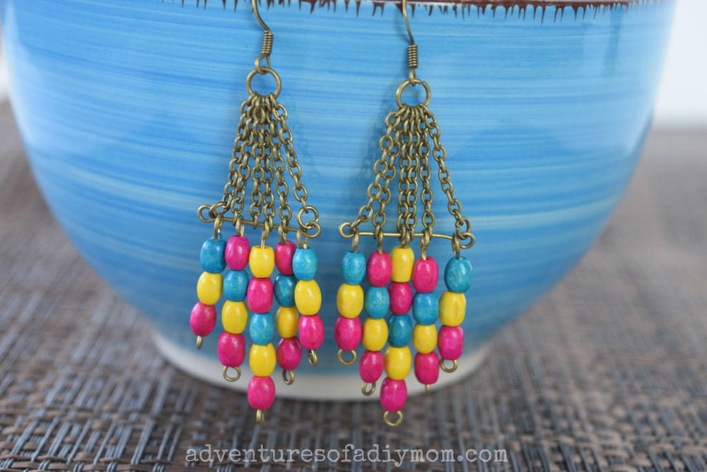 Wooden Bead Dangle Diy Earrings Allfreejewelrymaking Com