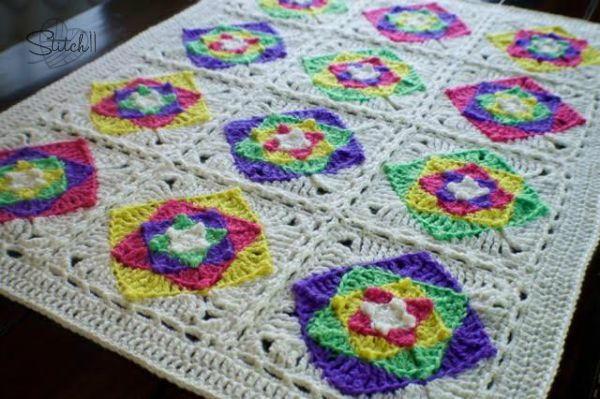 Optical Illusion Baby Blanket Allfreecrochet Com