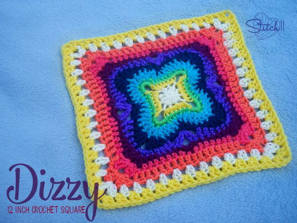 Large And Dizzy Crochet Granny Square