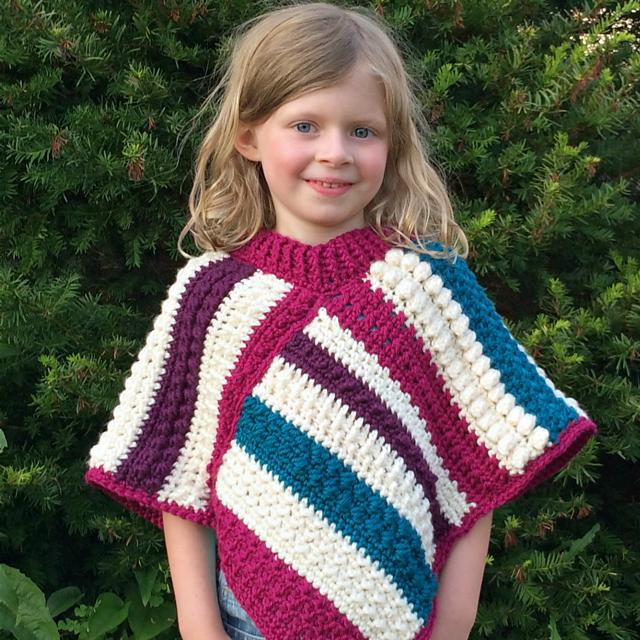 Fall Shades Crochet Poncho Pattern Allfreecrochet Com