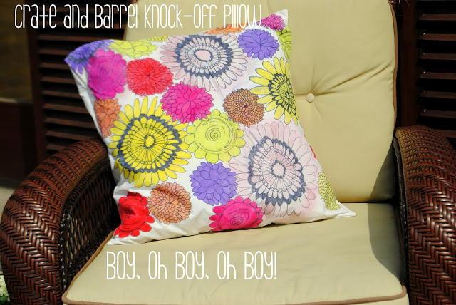 Crate And Barrel Knock Off DIY Pillow DIYIdeaCentercom