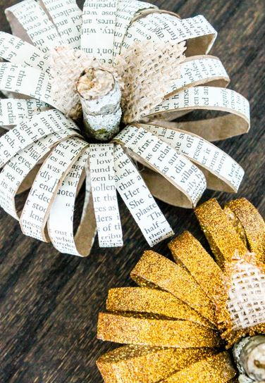 Diy Paper Roll Pumpkins Allfreeholidaycrafts Com