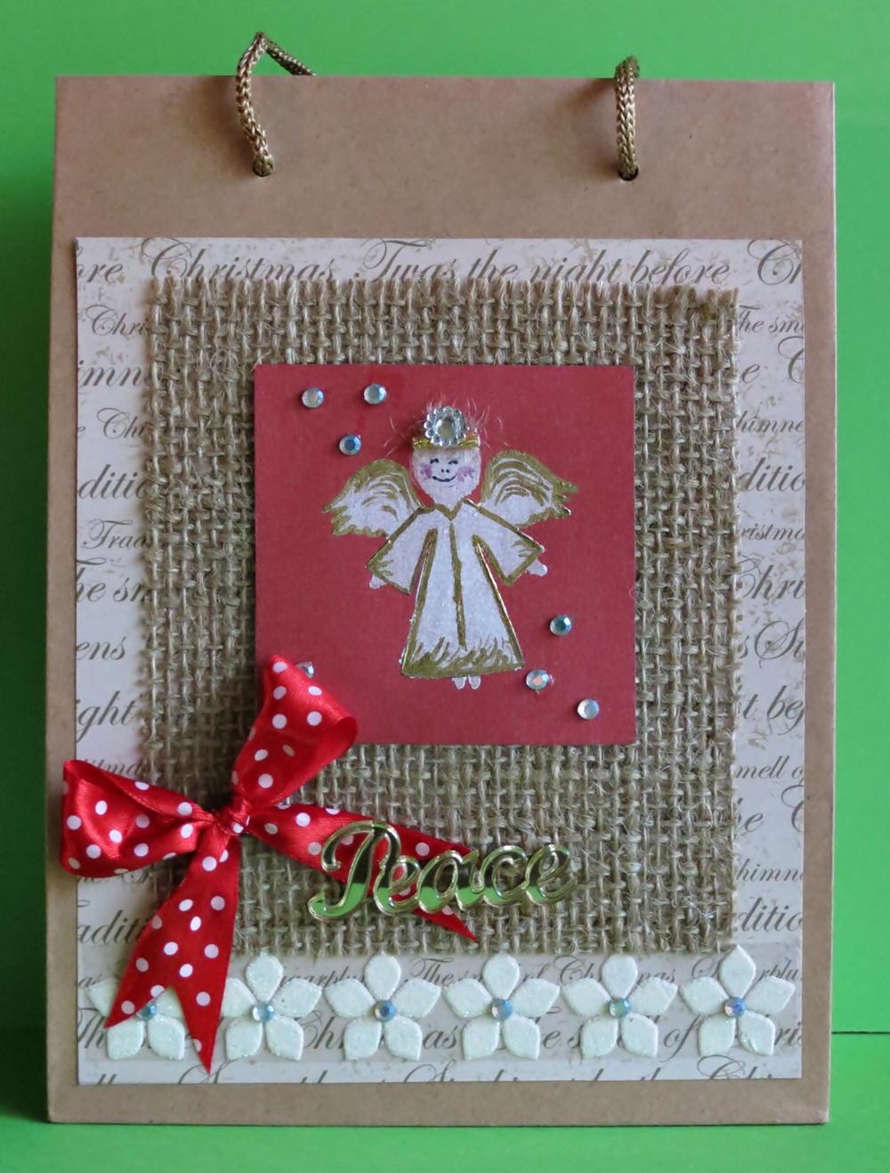 Christmas Gift Bags Diy.Gourmet Christmas Gift Bag Allfreepapercrafts Com