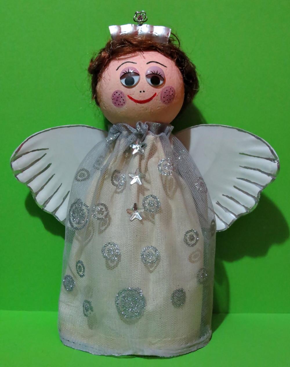 Recycled Plastic Bottle Christmas Angel