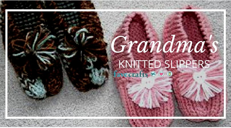 Grandmas Knitted Slippers Pattern Favecraftscom Inducedfo