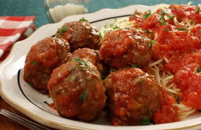 Spaghetti with Surprise Meatballs