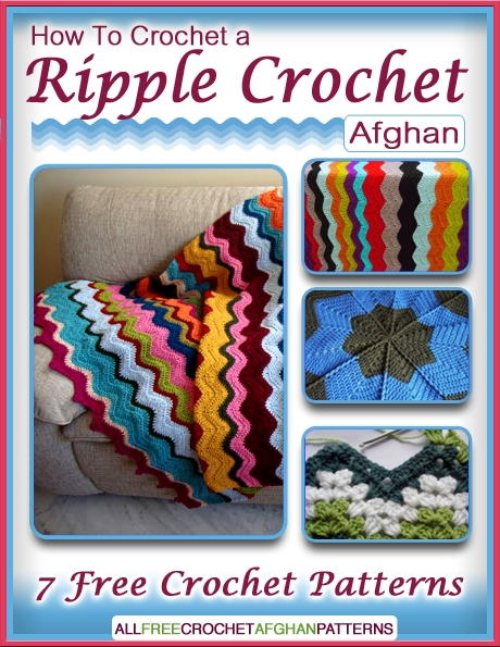 Book Cover Crochet Quilt ~ How to crochet a ripple afghan free