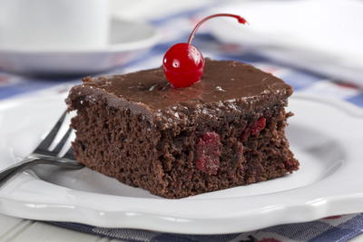 Cherry Fudge Cake