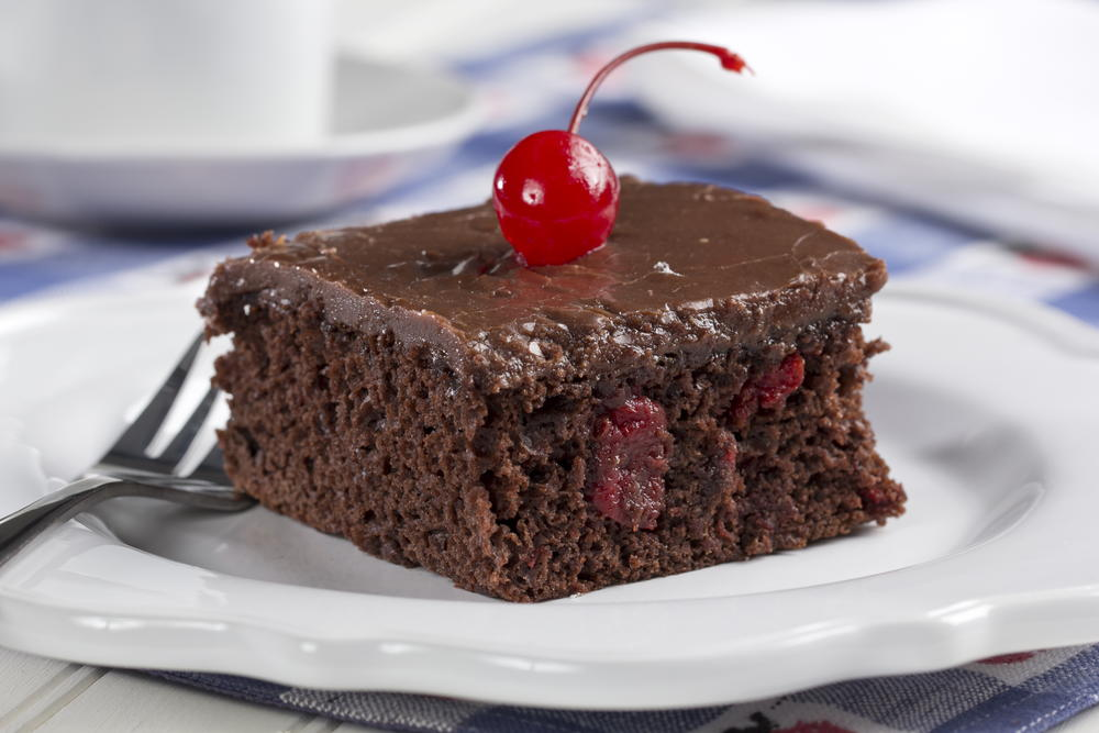 Cherry Fudge Cake Mrfood Com