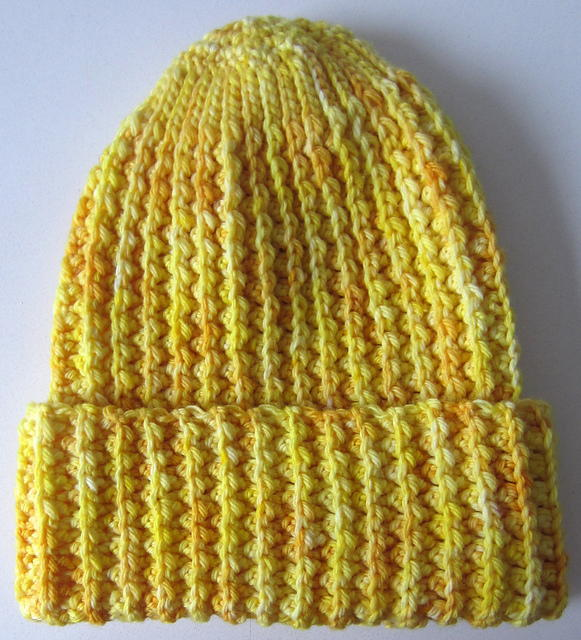 Faux Mistake Rib Easy Crochet Hat  3a02b5f1356