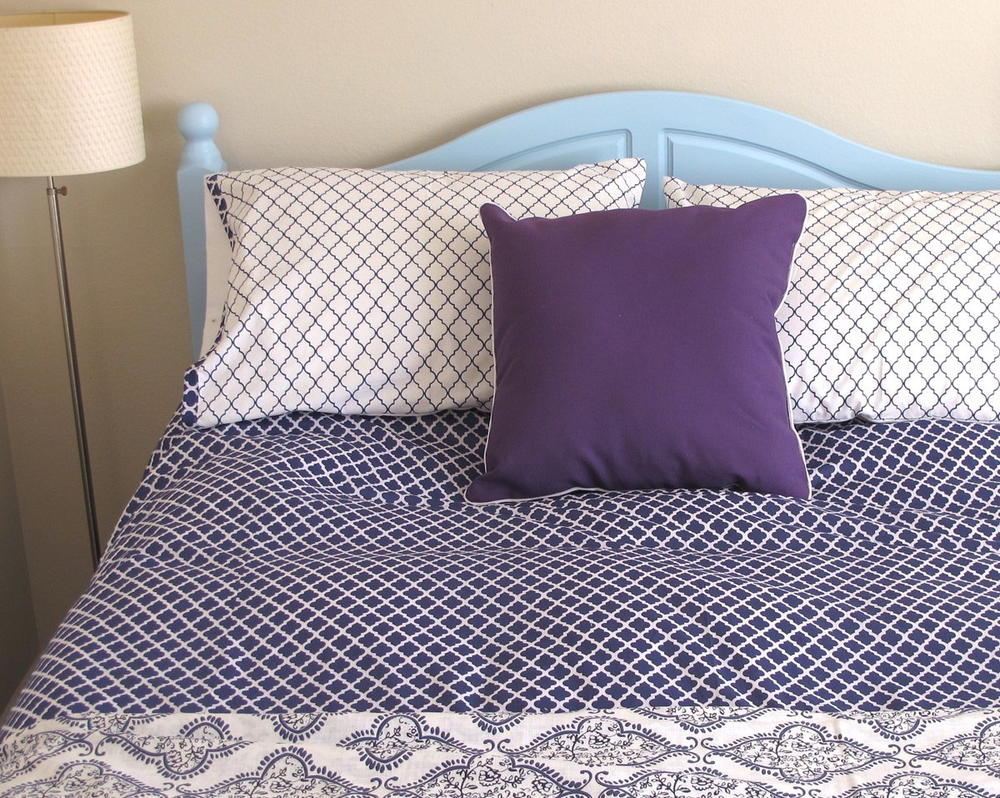 DIY Duvet Cover And Pillow Shams DIYIdeaCentercom