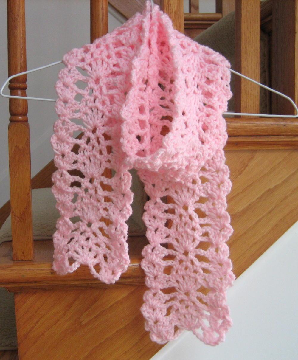Lacy Pineapple Crochet Scarf Allfreecrochet