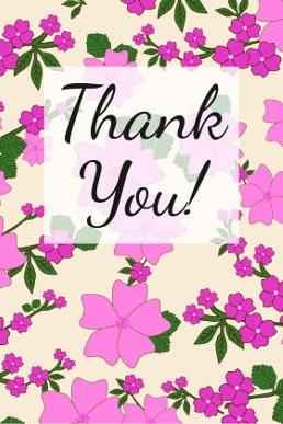 picture about Thank You Card Printable titled Eye-catching Blooms Totally free Thank Oneself Card Printable