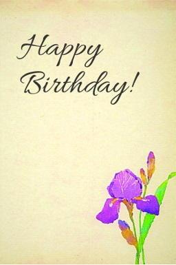 Fantastic Free Floral Birthday Card Printable