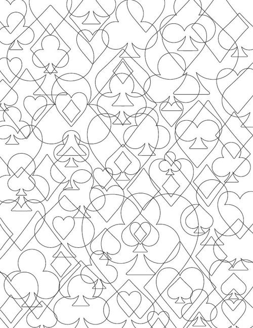 House of Cards Adult Coloring Page