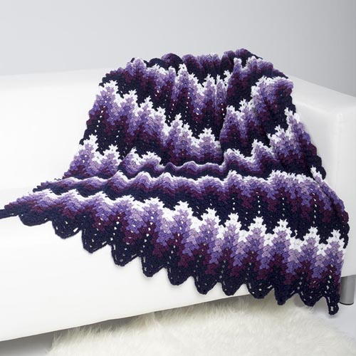 Perfectly Purple Ripple Throw ...